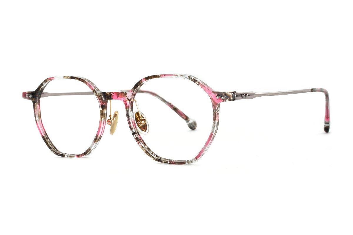八角印花時尚眼鏡 FSY2108-C61