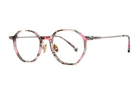 眼鏡鏡框-八角印花時尚眼鏡 FSY2108-C6