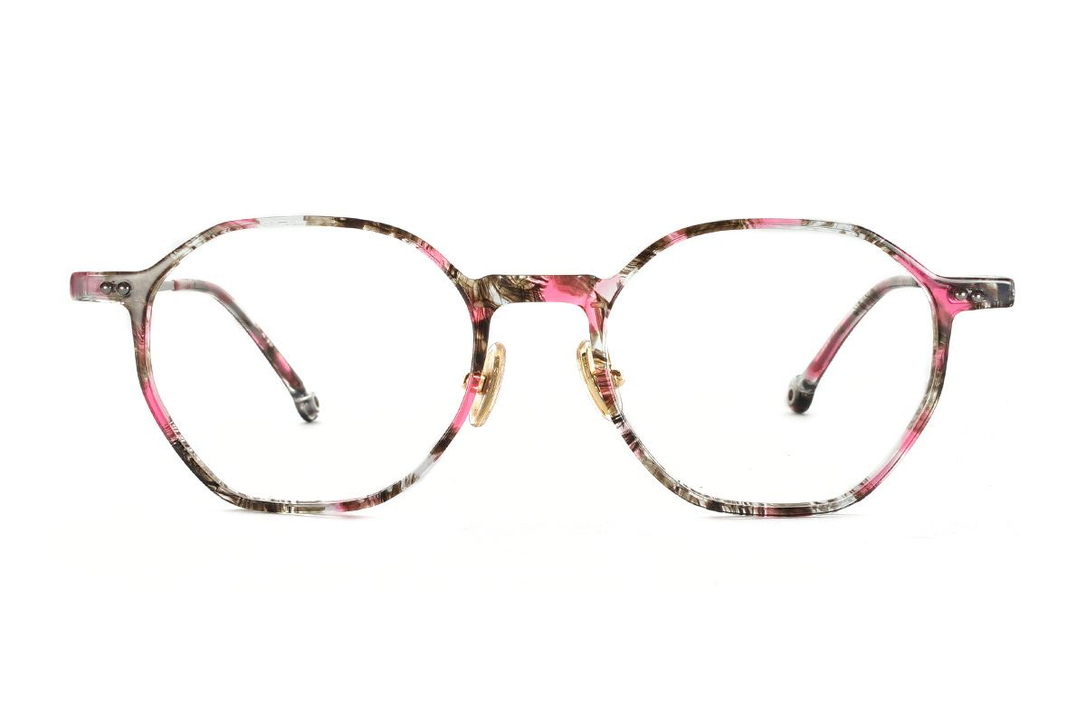 八角印花時尚眼鏡 FSY2108-C62