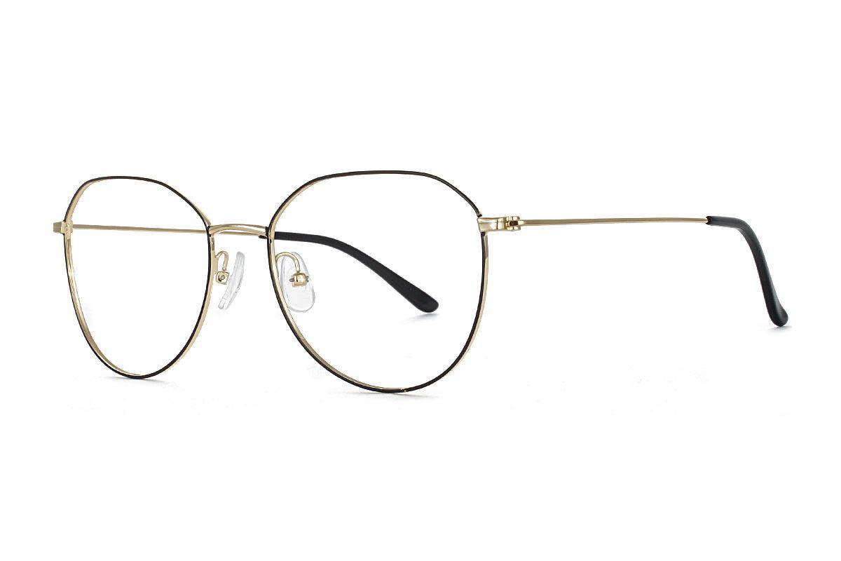 稜角黑金飛行員眼鏡 FU5500-C71