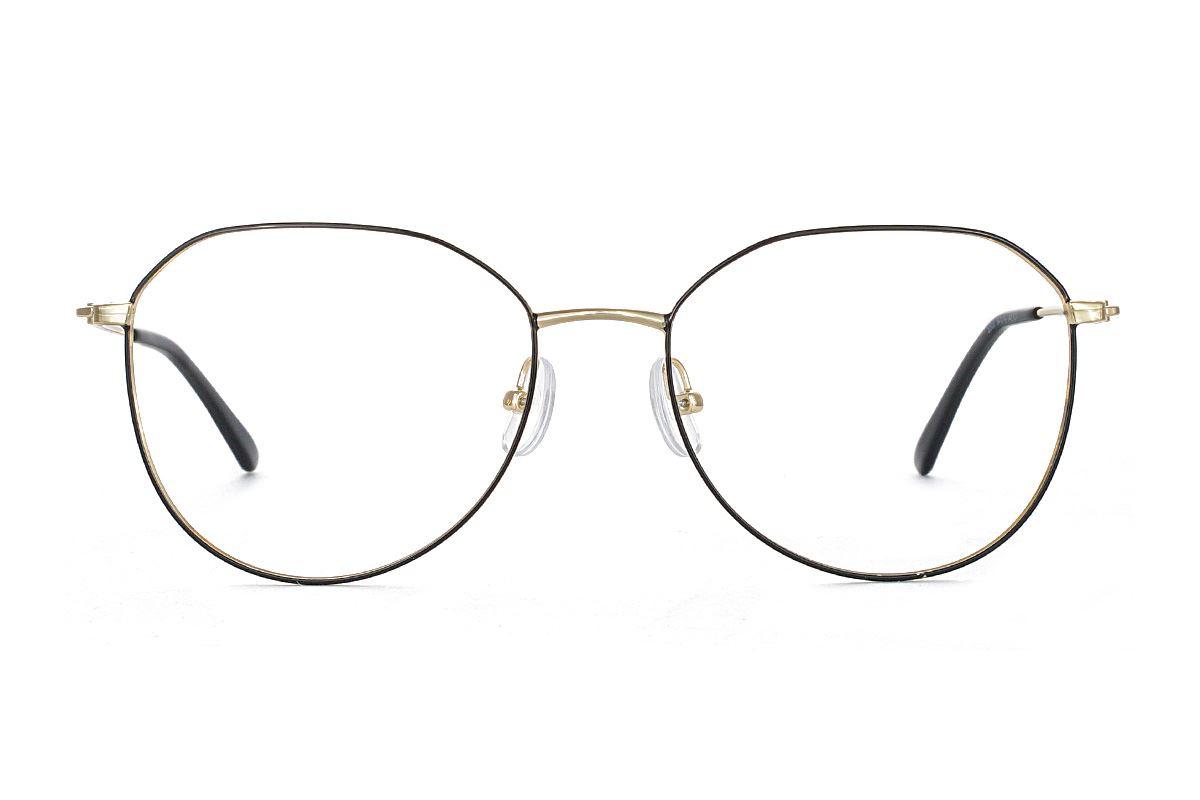 稜角黑金飛行員眼鏡 FU5500-C72
