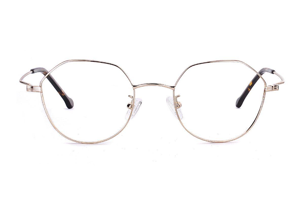 多角細框眼鏡 FU5996-C62