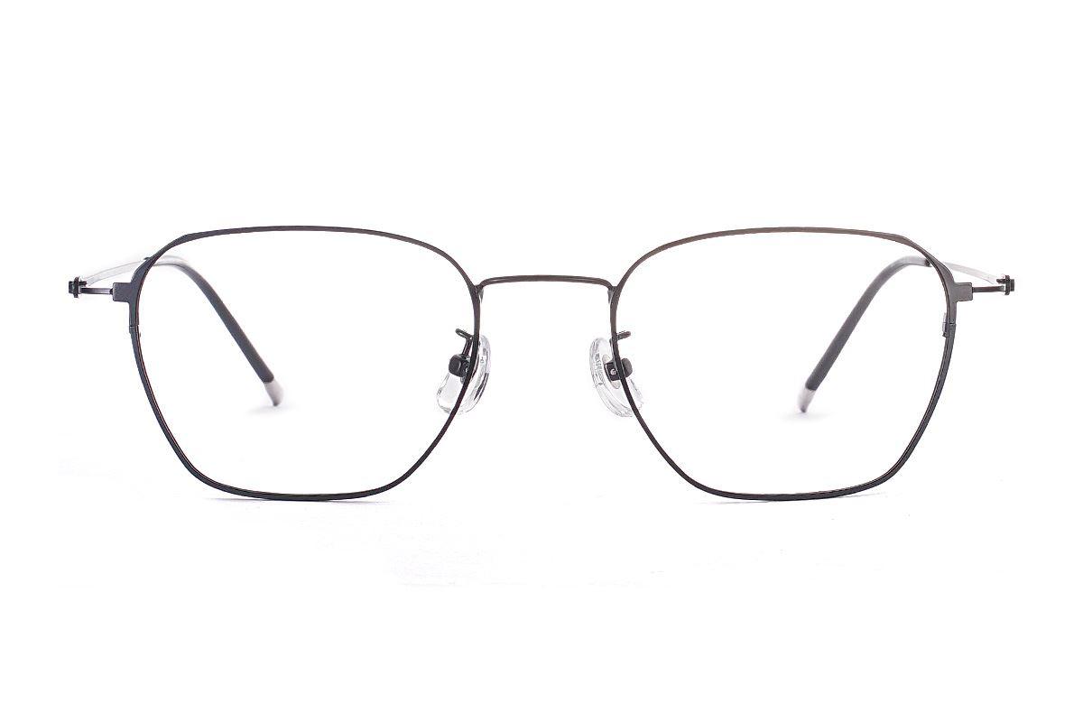 菱角方形細框眼鏡 FU39011-C12