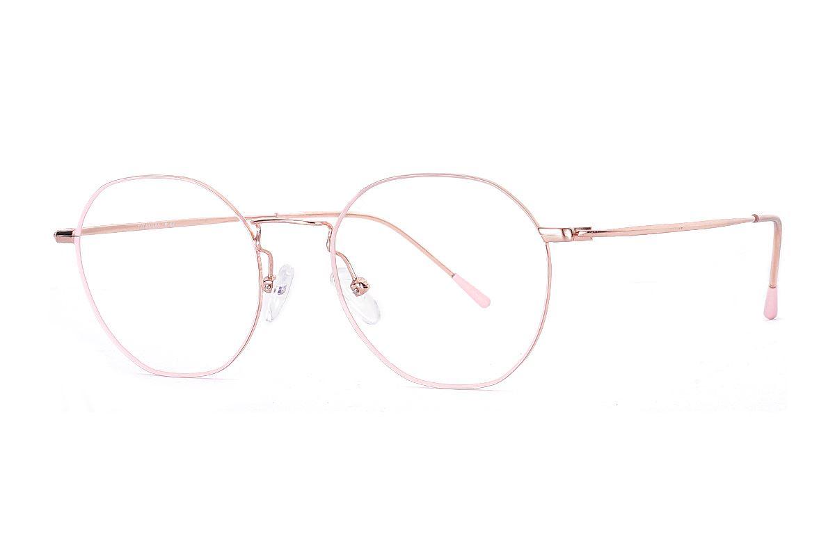 多角細框鈦眼鏡 H6557-C41