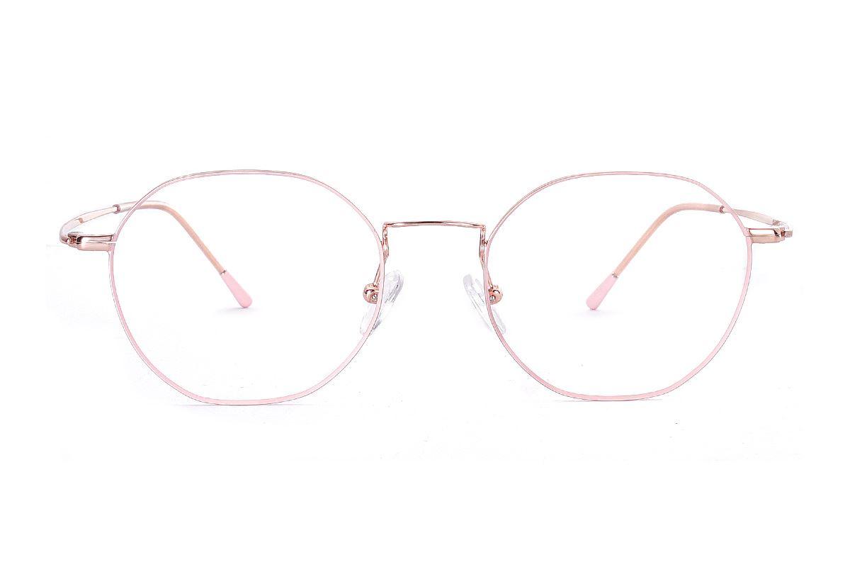 多角細框鈦眼鏡 H6557-C42