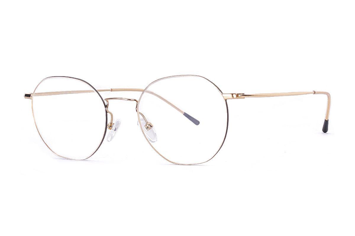 多角細框鈦眼鏡 H6557-C11