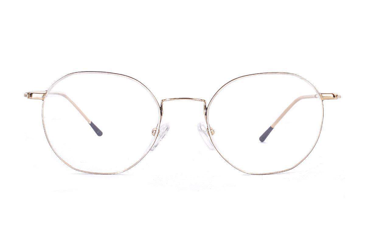 多角細框鈦眼鏡 H6557-C12