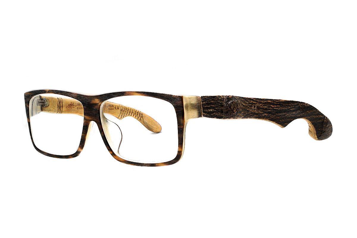 台灣製手工柚木眼鏡-大方原木1
