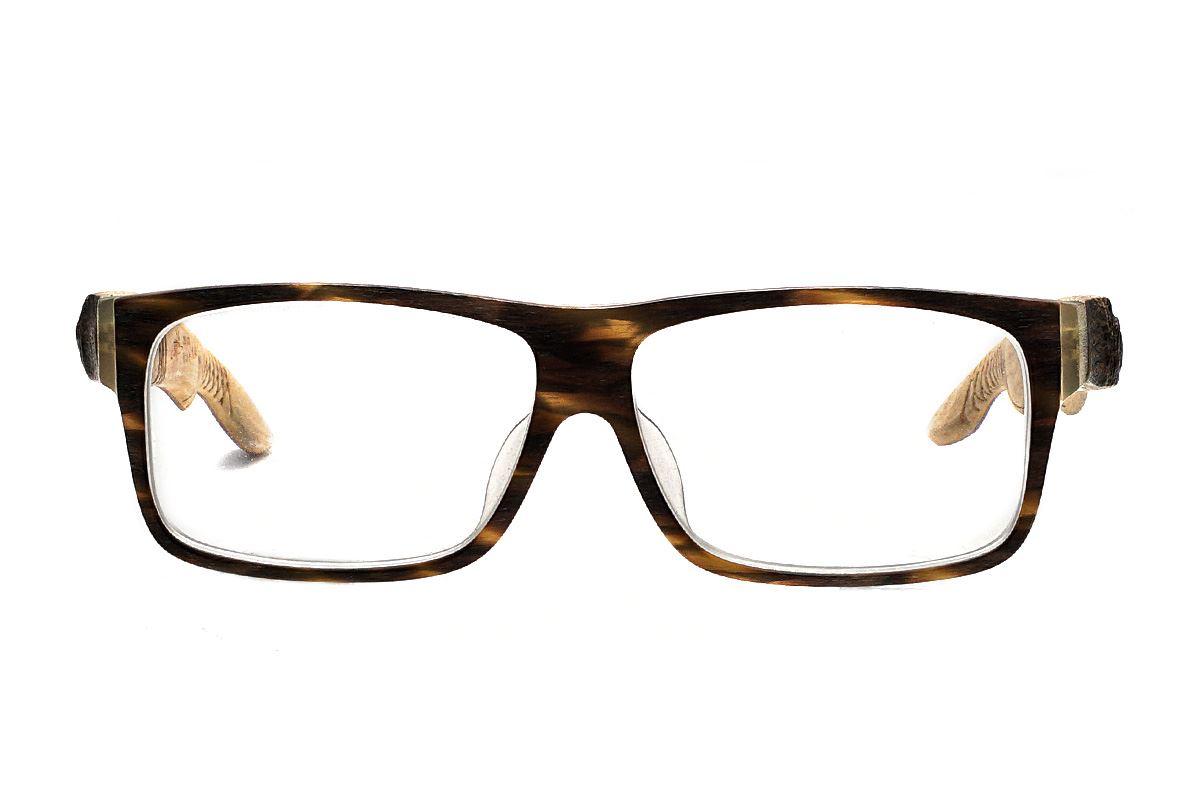 台灣製手工柚木眼鏡-大方原木2