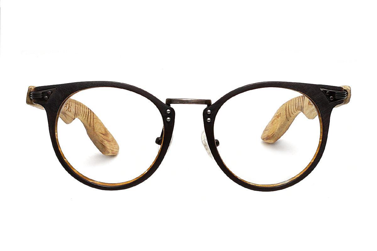 台灣製手工柚木眼鏡-圓柚木2