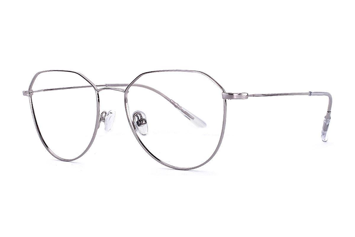 稜角銀色飛行員眼鏡 FU5679-C41