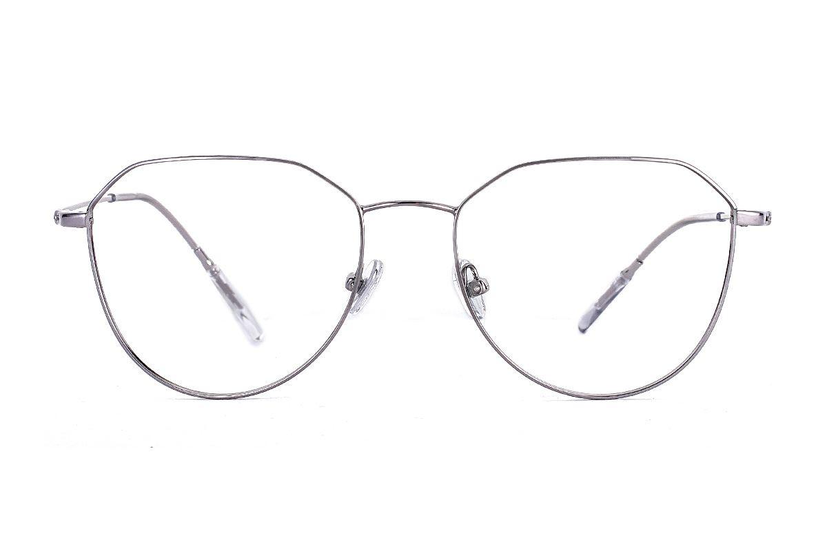 稜角銀色飛行員眼鏡 FU5679-C42