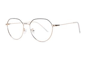 眼镜镜框-黑金棱角飞行员眼镜 FUBR9502-C7