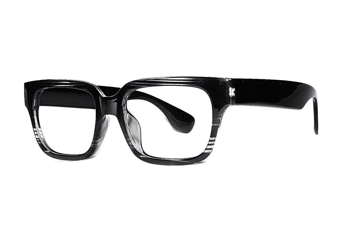 黑与透明条纹眼镜框 5908-C21