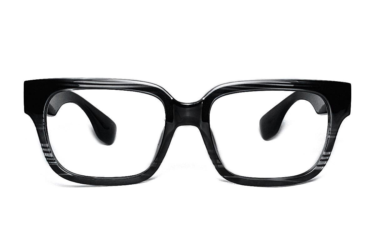 黑与透明条纹眼镜框 5908-C22
