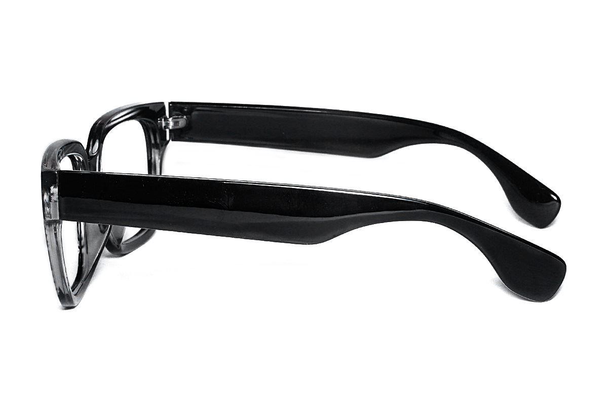 黑与透明条纹眼镜框 5908-C23