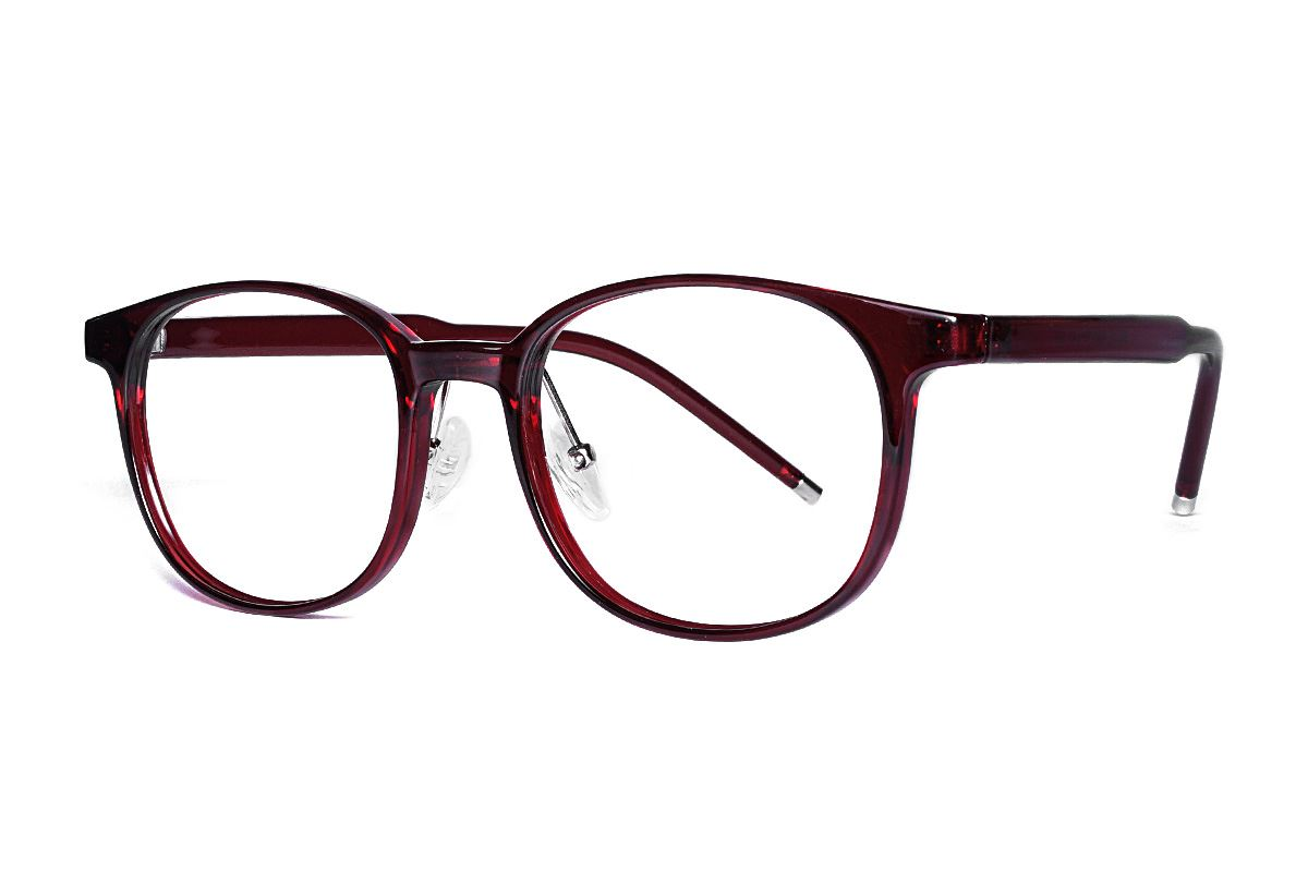 红色方圆眼镜框 B5512-C61