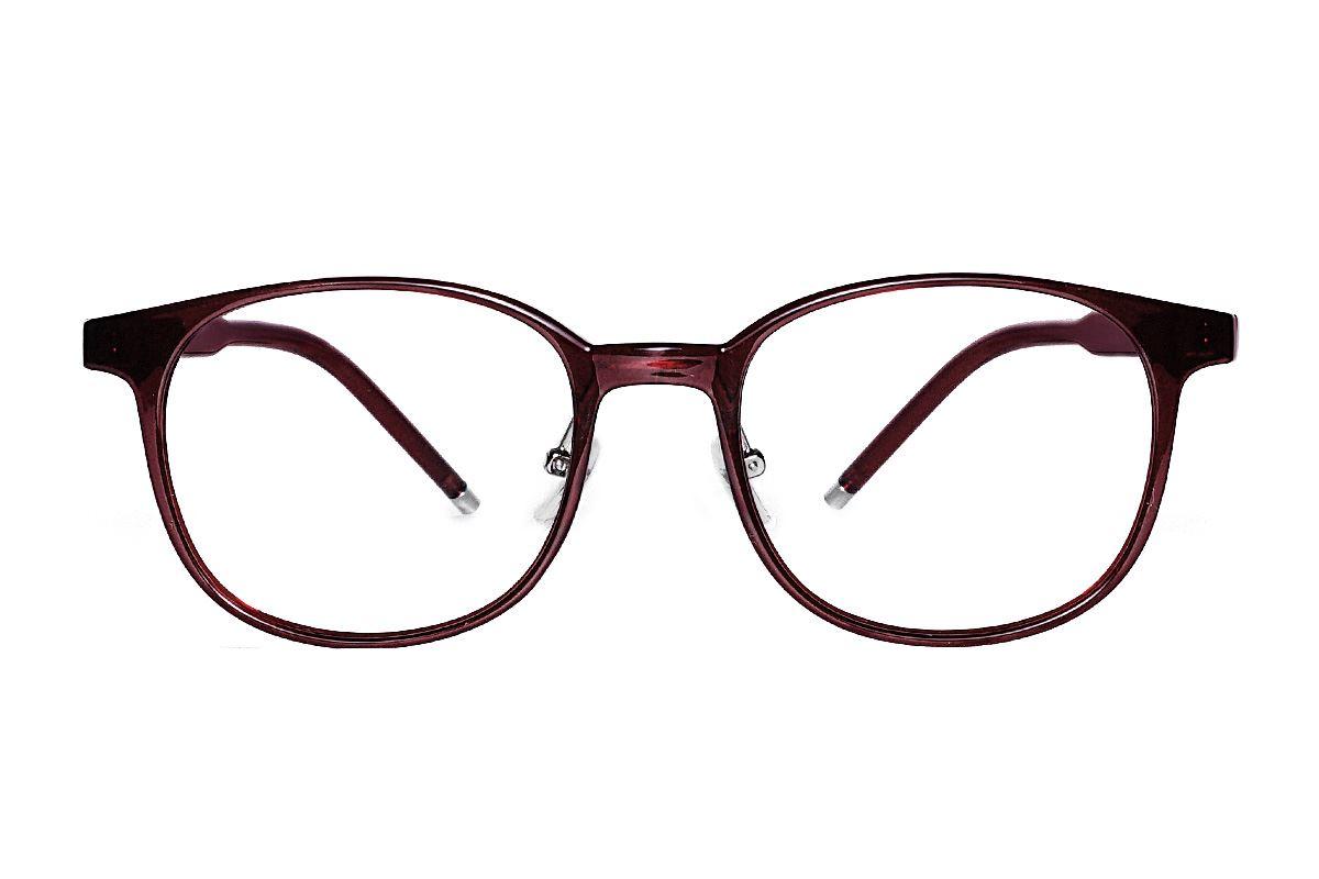 红色方圆眼镜框 B5512-C62