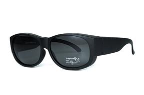 眼鏡配件-台灣製外掛式偏光套鏡-黑/灰