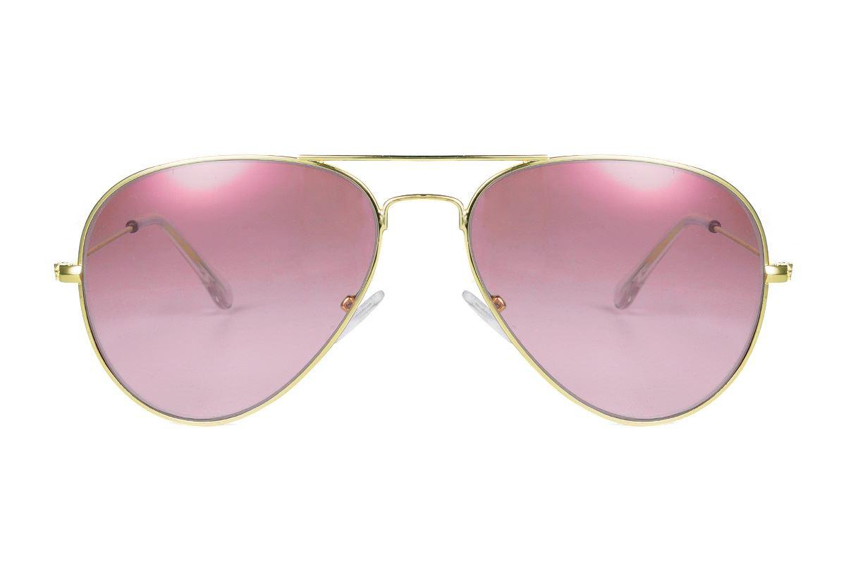 浅色造型太阳眼镜 F3025-R2