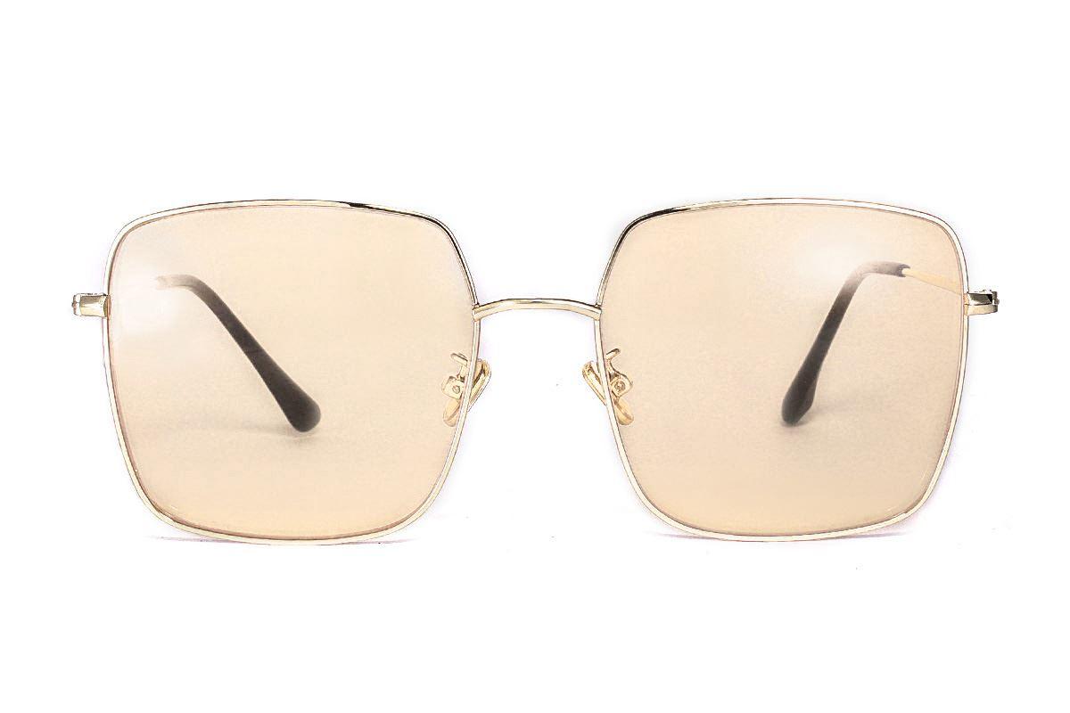 淺色造型太陽眼鏡 F2108-O2