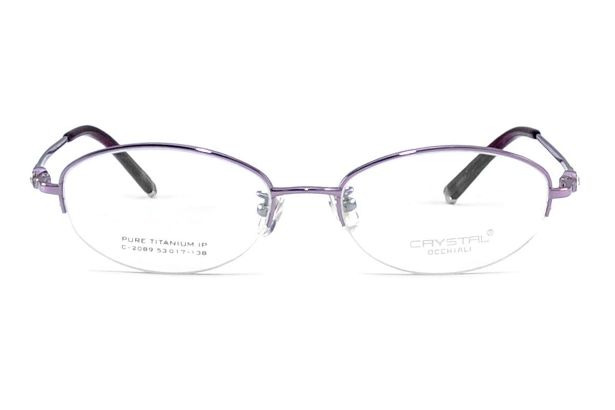 嚴選高質感水鑽眼鏡 C2089-PU2
