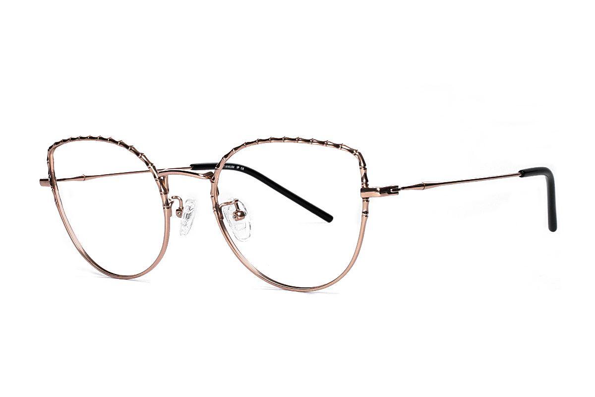 嚴選高質感鈦眼鏡 H6611-C41