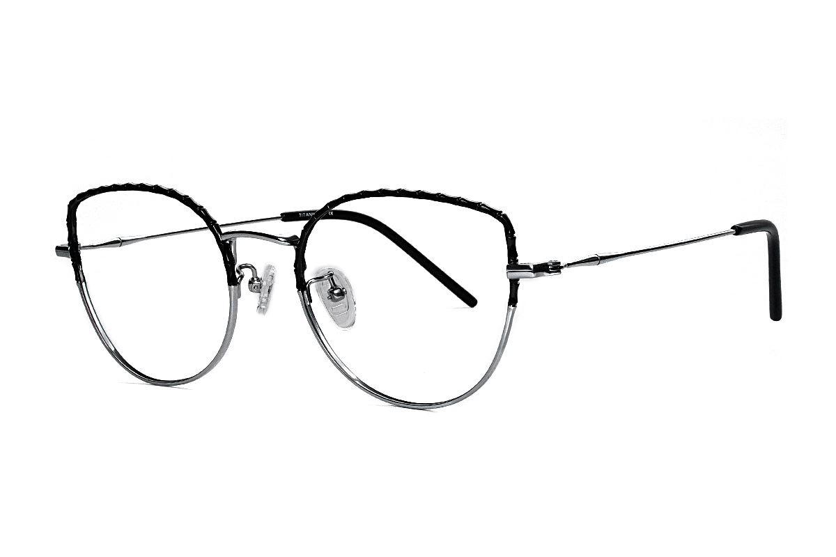 嚴選高質感鈦眼鏡 H6611-C71