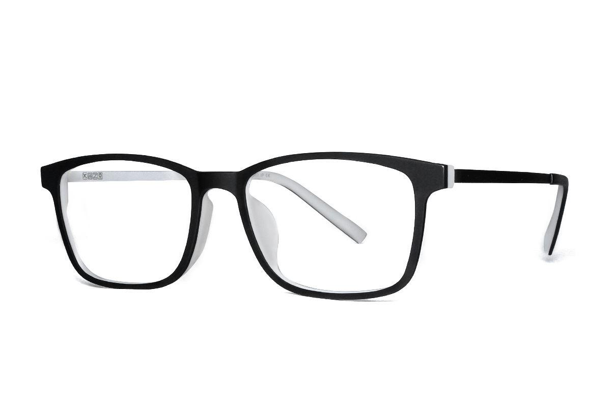 高质感弹性钛双色镜框 H8128-C1K1