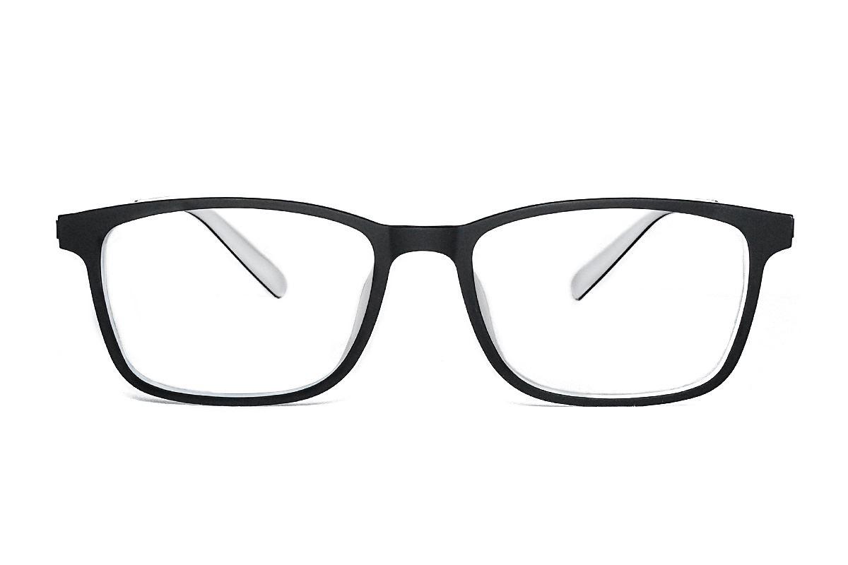 高质感弹性钛双色镜框 H8128-C1K2