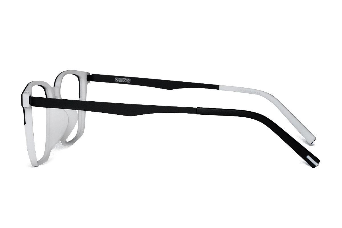 高質感彈性鈦雙色鏡框 H8123-C1K3