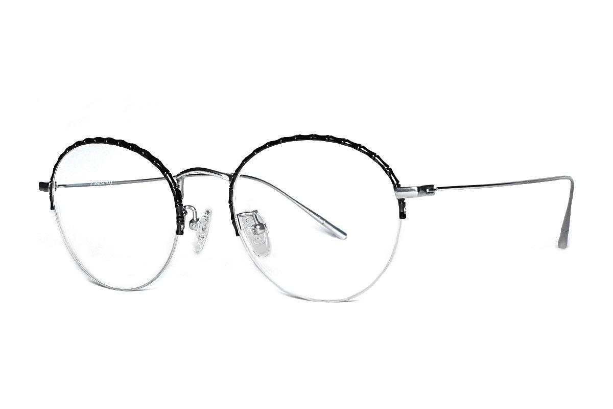 嚴選高質感鈦眼鏡 H6612-C71