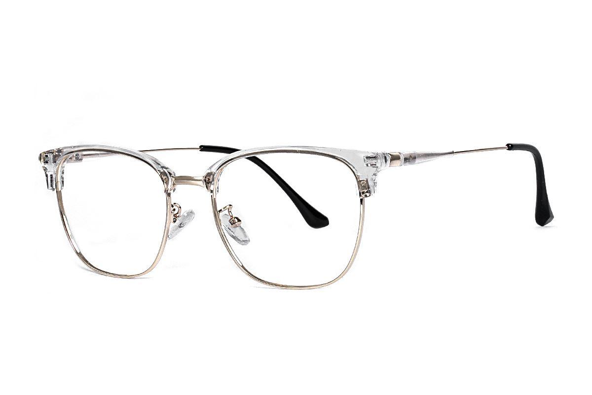 透明方形金框眼镜 11005-C51