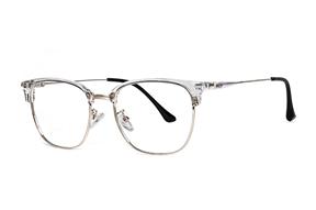 眼鏡鏡框-透明方形金框眼鏡 11005-C5