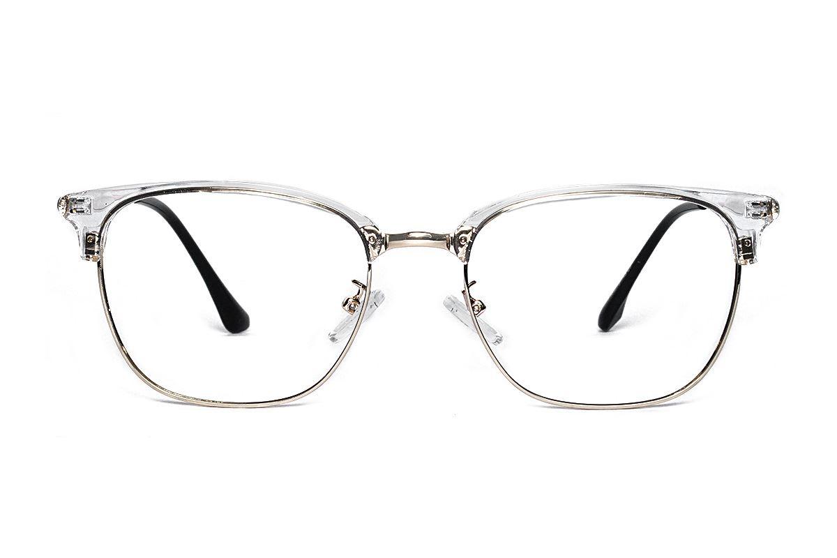 透明方形金框眼镜 11005-C52