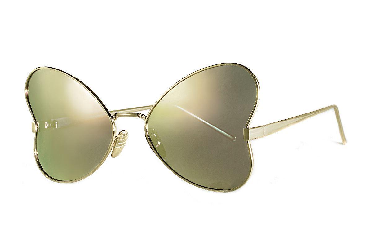 造型偏光水銀太陽眼鏡-粉蝴蝶1