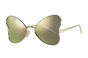 太陽眼鏡-造型偏光水銀太陽眼鏡-粉蝴蝶