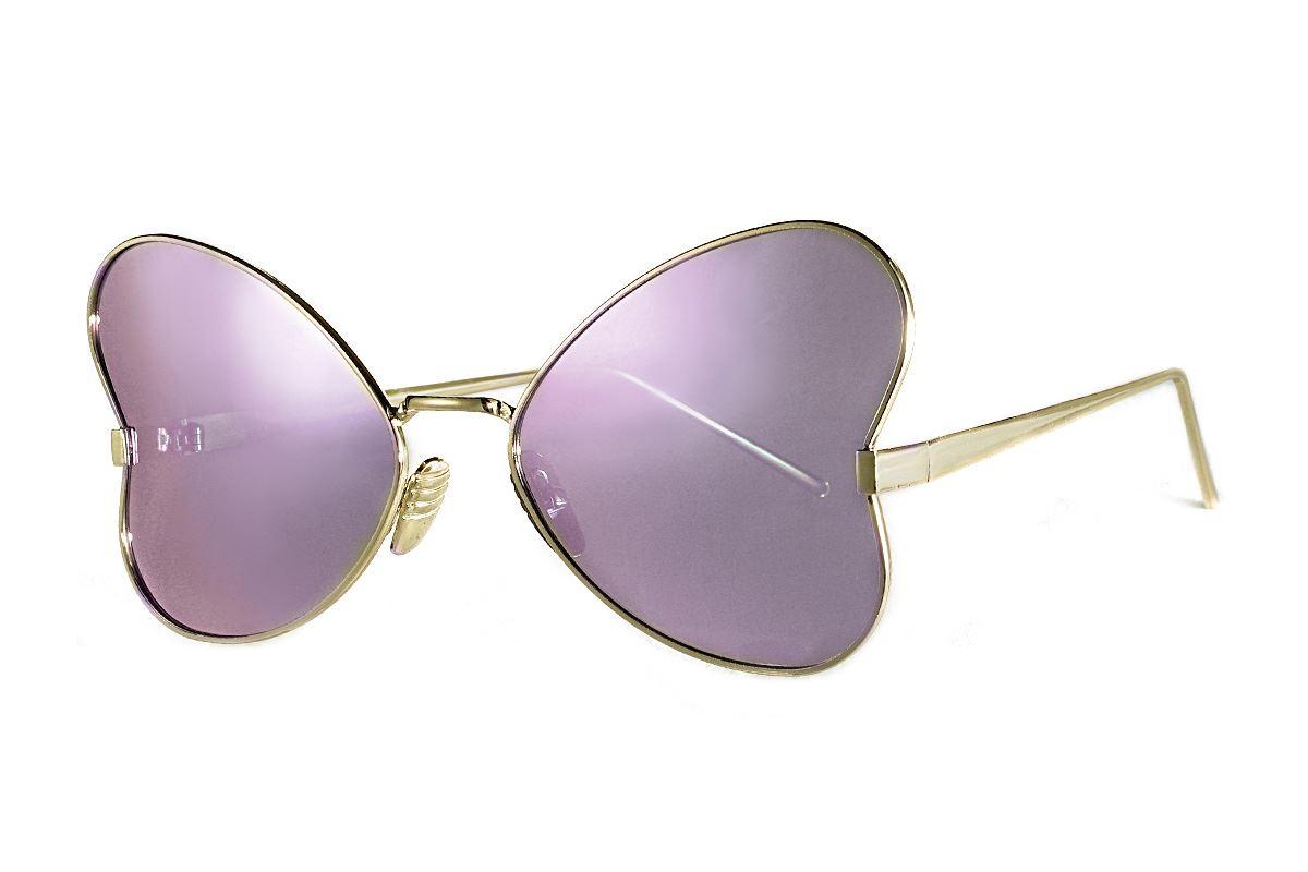 造型偏光水銀太陽眼鏡-紫蝴蝶1
