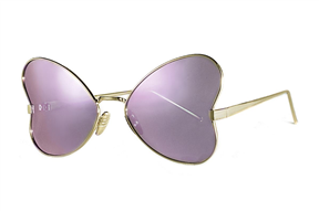 太陽眼鏡-造型偏光水銀太陽眼鏡-紫蝴蝶