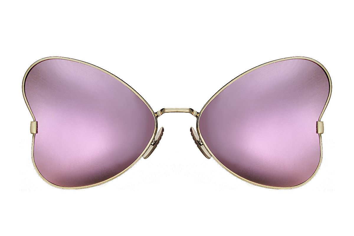 造型偏光水銀太陽眼鏡-紫蝴蝶2