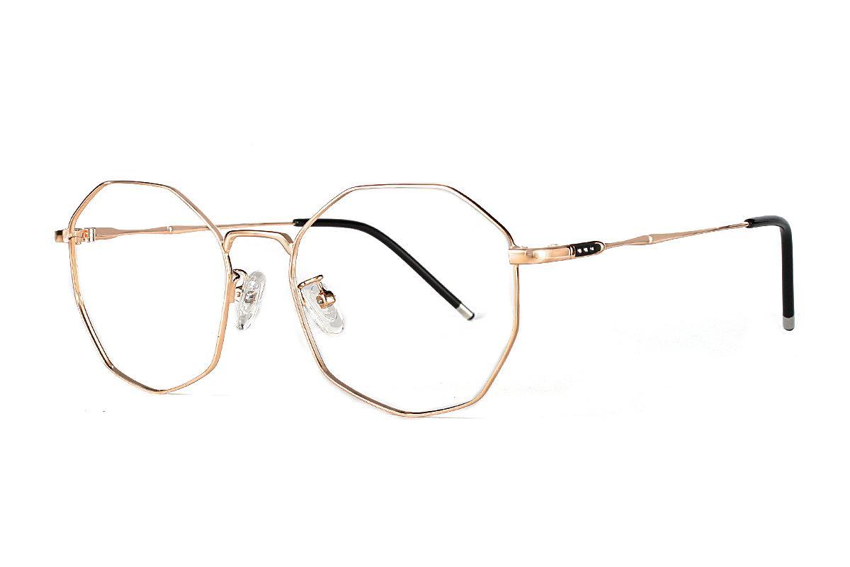 多角細框眼鏡 F3073-C31