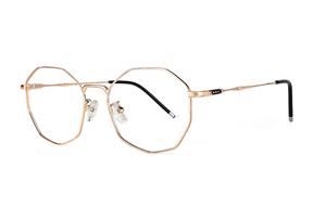 眼鏡鏡框-多角細框眼鏡 F3073-C3
