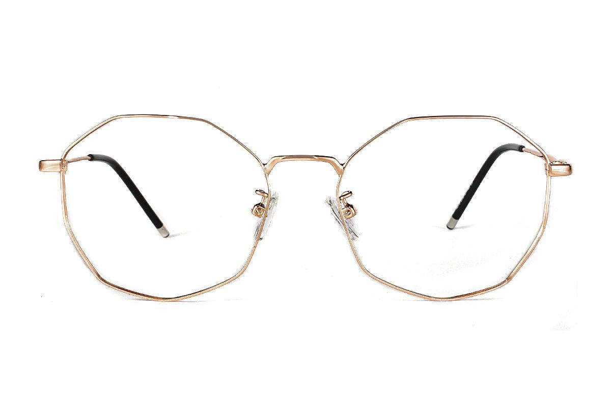 多角細框眼鏡 F3073-C32