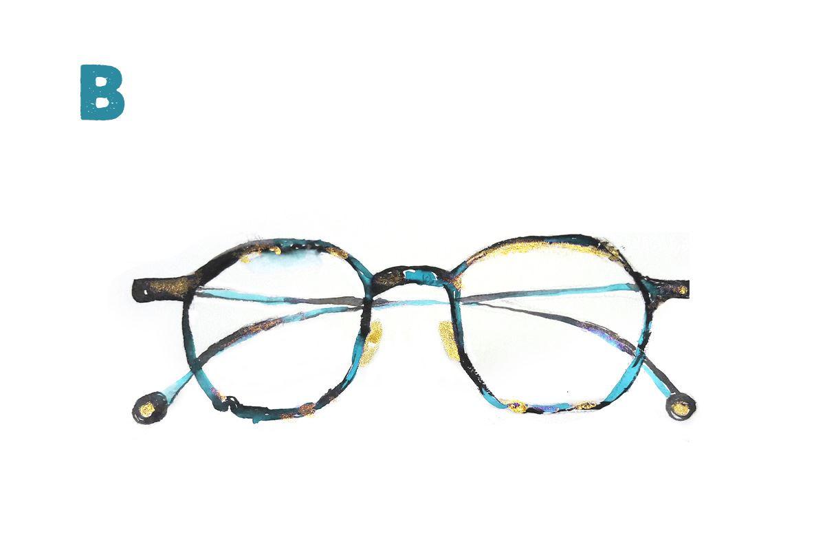 手工精緻眼鏡 B-051