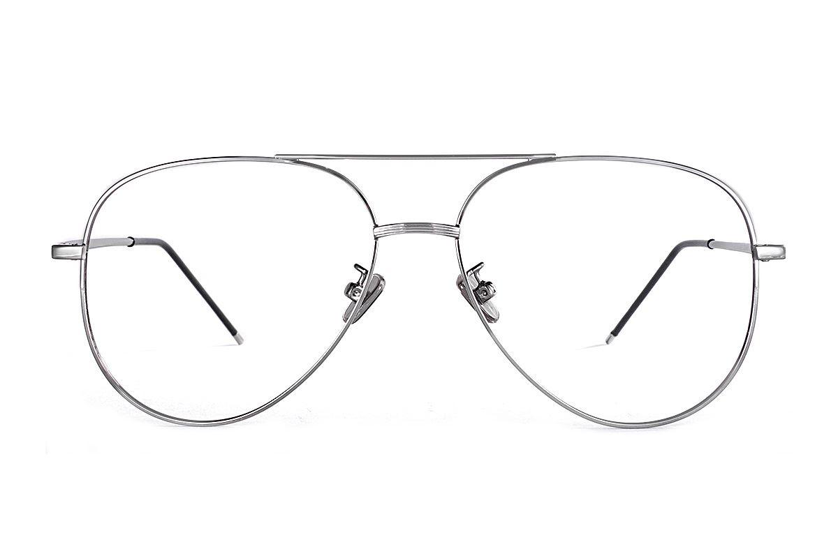 银色飞行员眼镜 33003-C52