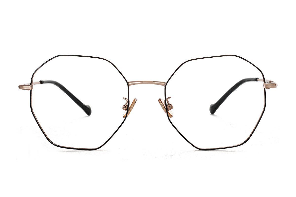 八角黑金細框眼鏡 FV637-C292
