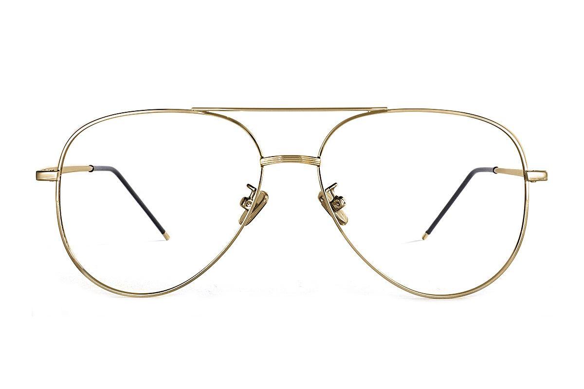 金色飞行员眼镜 33003-C22