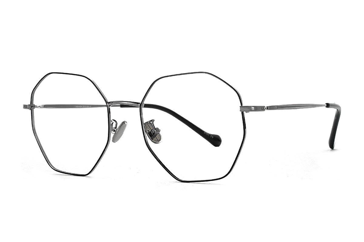 八角黑枪细框眼镜 FV637-C191