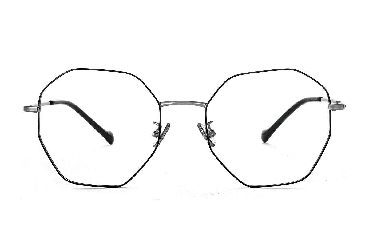 八角黑枪细框眼镜 FV637-C192
