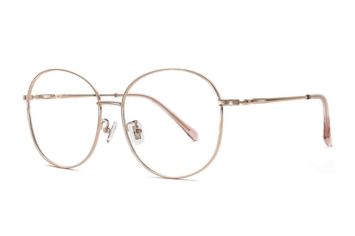 玫瑰金復古眼鏡 61003-C71